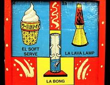 Набор хиппи - бонг, лава лампа и мороженое