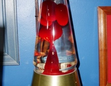 Лавовая лампа в форме конуса - популярная форма в 80-х
